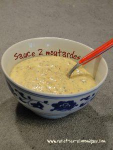 sauce 2 moutardes