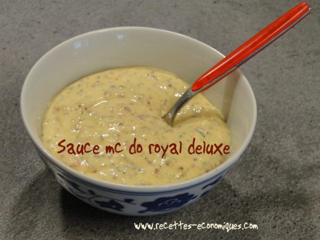 sauce mc do royal deluxe
