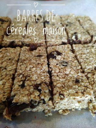 recette barre céréales chocolat raisins