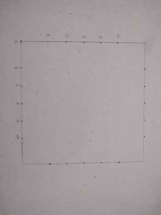 on fait un carré de 14 cm de coté