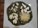 avec un wrap vert: 4 fromages