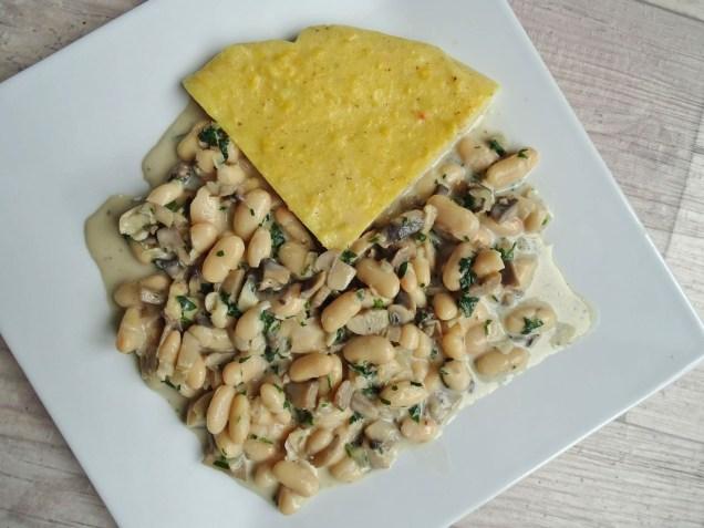 polenta sauce champignons et haricots blancs (4)