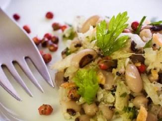 Salade de haricots à la morue