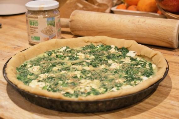 Quiche végétarienne tofu épinards noisette à la crème végétale de chanvre © Balico & co
