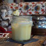 Pot de ghee ou beurre clarifié en français - Recette indienne © Balico and co