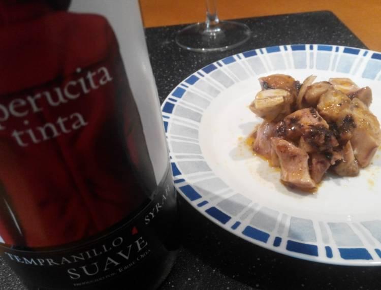 Pulpo en salsa marinera y un tinto joven tempranillo syrah for Hacer salsa marinera