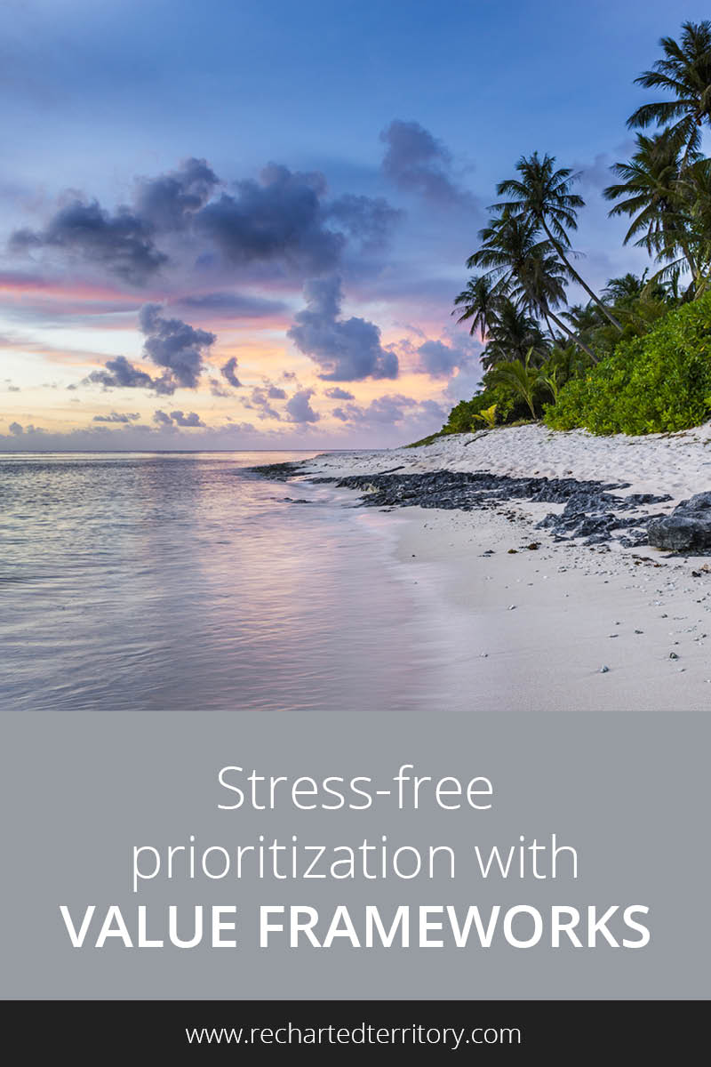 Stress free prioritization with value frameworks