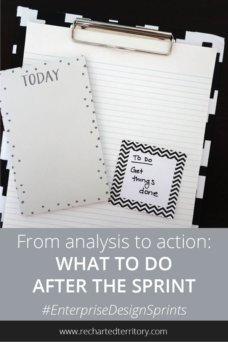 From analysis to action what to do at the end of the sprint