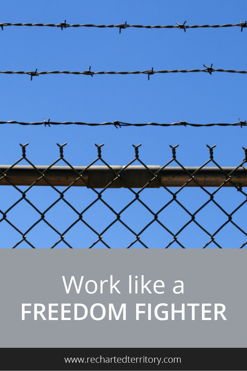 Work like a freedom fighter