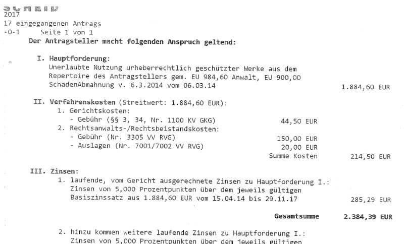 Rechtsanwalt Andreas Schwartmann Mahnbescheide für rka: Alle Jahre wieder Zwangsvollstreckung Urheberrechtsverletzung Schadensersatz Mahnbescheid Anwaltsleben