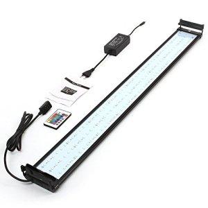 Amzdeal Aquarium Lampe 144LED 5050SMD Étanche, 95-115CM Modes Extensibles, AC100-240V Plug EU, éclairage pour poissons, Couleur RGB ou Blanc, Télécommande inclus