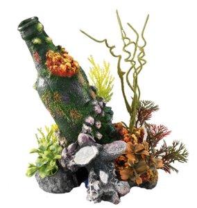 Europet Bernina Bubble Décor pour Aquarium en Polyrésine Bouteille 15 x 11,5 x 20 cm