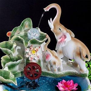 KIKIXI Ornements De L'Eau Salon De L'Artisanat En Céramique Accueil Fontaine Créative Accueil Recruter Fortune Fish Tank Aquarium 40Cm De Haut 37Cm De Large