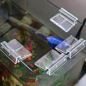 SADA72 Lot de 4 Clips Transparents en Verre pour Aquarium 6/8 / 10/12 mm, Lot de 12, 6 mm