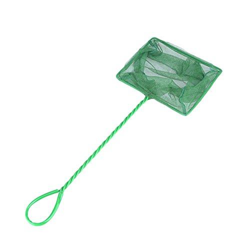 Namgiy Filet de Poisson avec Plastique antidérapante Poignée Flexible pour Aquarium Accessoires pour Animal Domestique Fournitures Vert 8 inches Green8