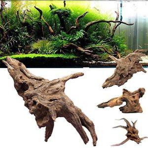 Roblue Bois Naturel de Coffre en Bois Flotté Souche d'arbre Plante Aquarium Ornement Décor Tree Plants