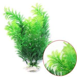 Roblue Plante Aquarium Artificielle Cachette en Plastique Plante Décoration Aquarium 30cm