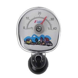 Biniwa Thermomètre pour Aquarium Température de l'eau Ventouse Submersible