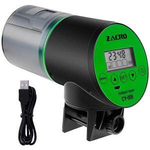 Zacro Distributeur Automatique de Nourriture 200 ML Grande capacité Automatique avec minuteur numérique pour Chien Chat et Tortue