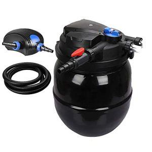 JRDDP Filtre à Poissons Seau à Filtre biochimique Équipement Nettoyage Automatique Lavage à Contre-Courant Eau Propre De l'eau Eau vive (Size : 14000L/H)