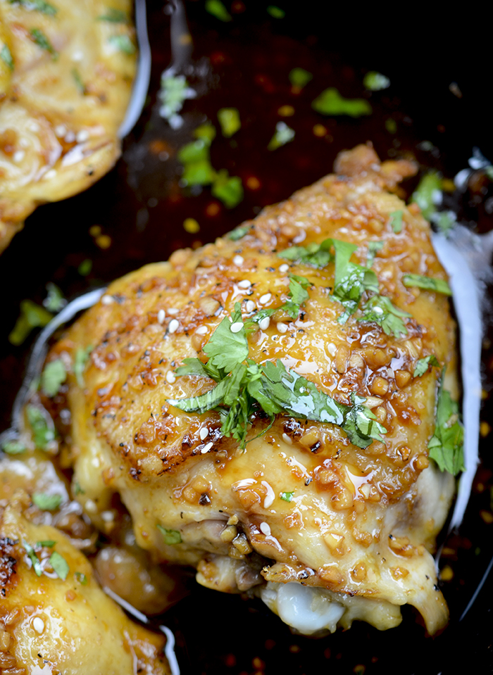 Caramelized Baked Chicken Thighs - Recipe Diaries