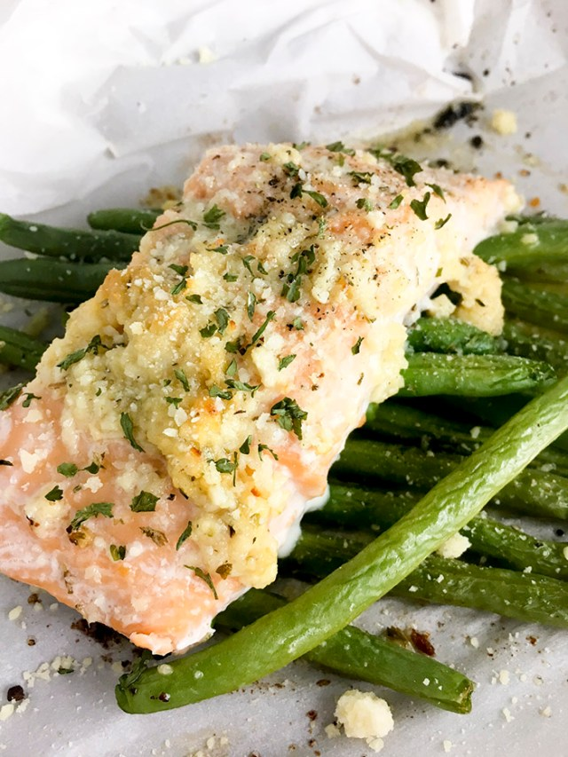 Garlic Butter Salmon with Green Beans