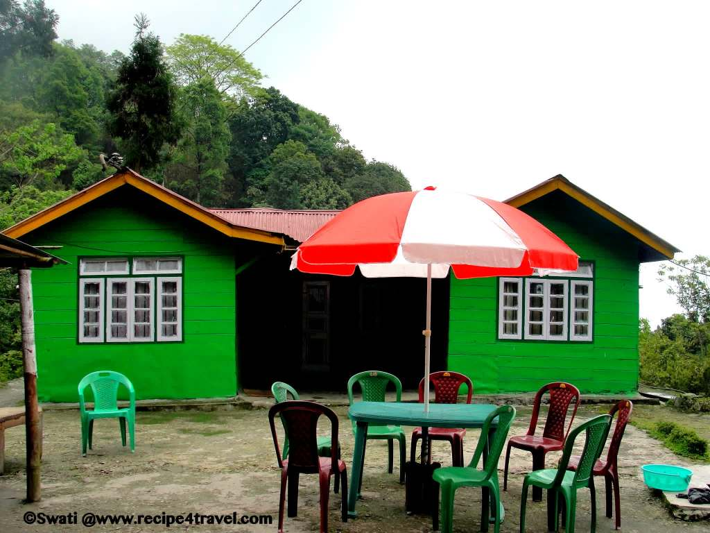 The colorful tea and snacks joint near Butterfly Park - our first pit stop