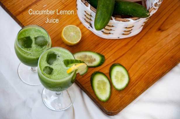 Cucumber lemon juice drink