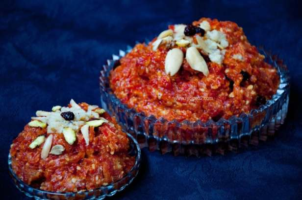 gajar halwa with khoya