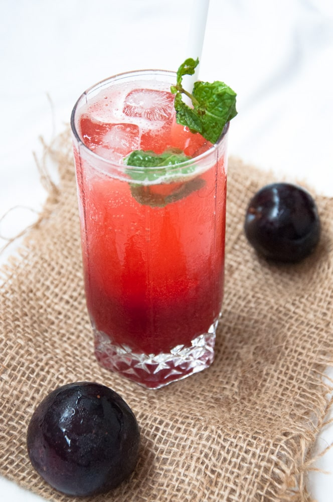 Plum drink recipes (Plum lemonade, Plum margrita, Plum sharbat)