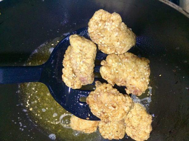 Fried Sesame Chicken nuggets Recipe