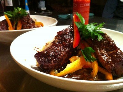 asian style risotto and country ribs