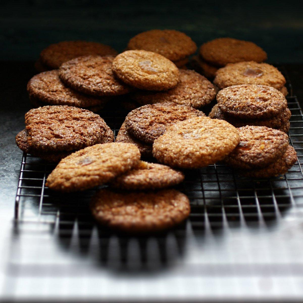 Cold November Rain Cookies- Pomegranate Ginger Snaps