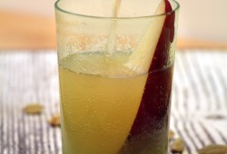 Sparkling Pear Ambrosia Cocktail