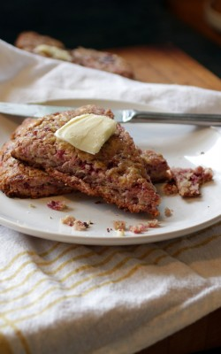 Cranberry Scones with Grapefruit Cardamom Cranberry Sauce