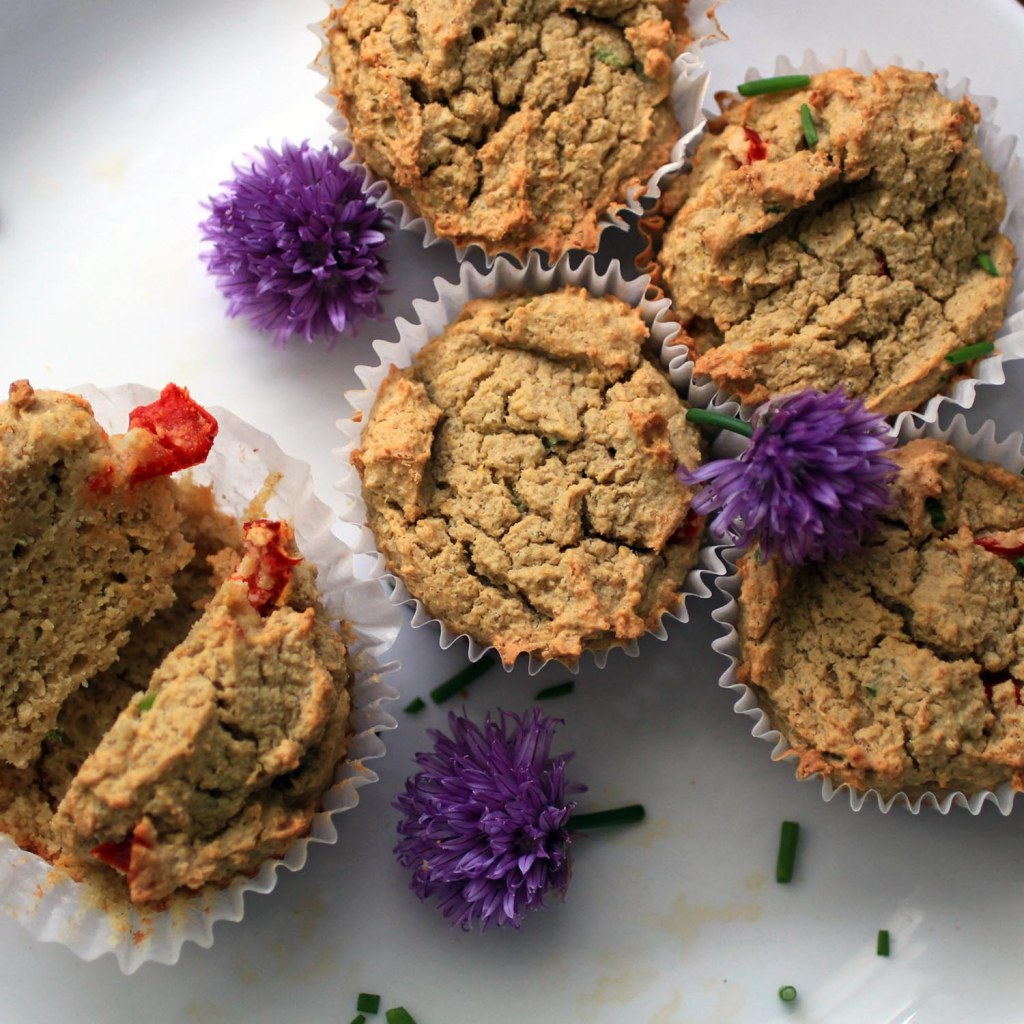 close up of Thai Coconut Curry Chicken Muffins- Gluten and Dairy Free