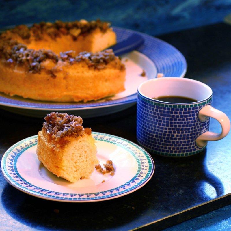 Cardamom Pretzel Coffee Cake