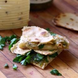 quesadilla with homemade tortilla
