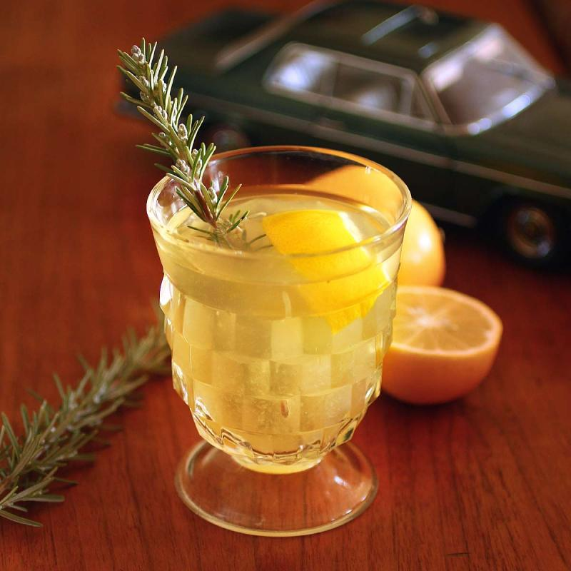 real maple syrup and meyer lemon hot toddy