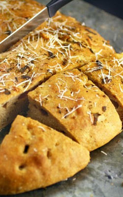 Rosemary Sage Focaccia: The almost no recipe bread