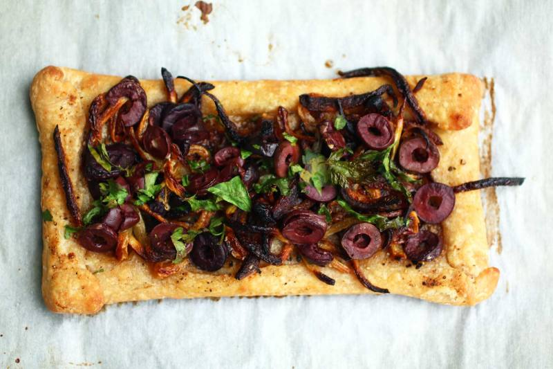 Pissaladière: Caramelized Onion Olive Tart with Anchovy