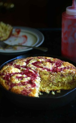 Strawberry Honey Skillet Cornbread
