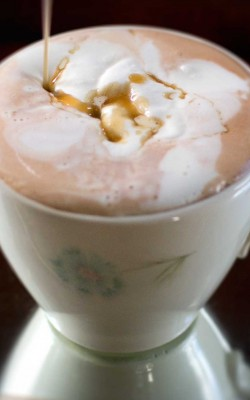 boozy orange caramel hot chocolate