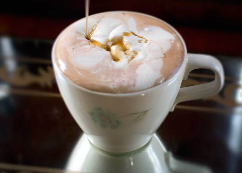 boozy orange caramel hot chocolate