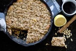 Cast Iron Crumb Cake|RecipeFiction