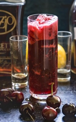 Cherry Amaretto Sidecar Cocktail