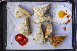 blue cheese green chili scones