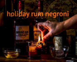 holiday rum negroni