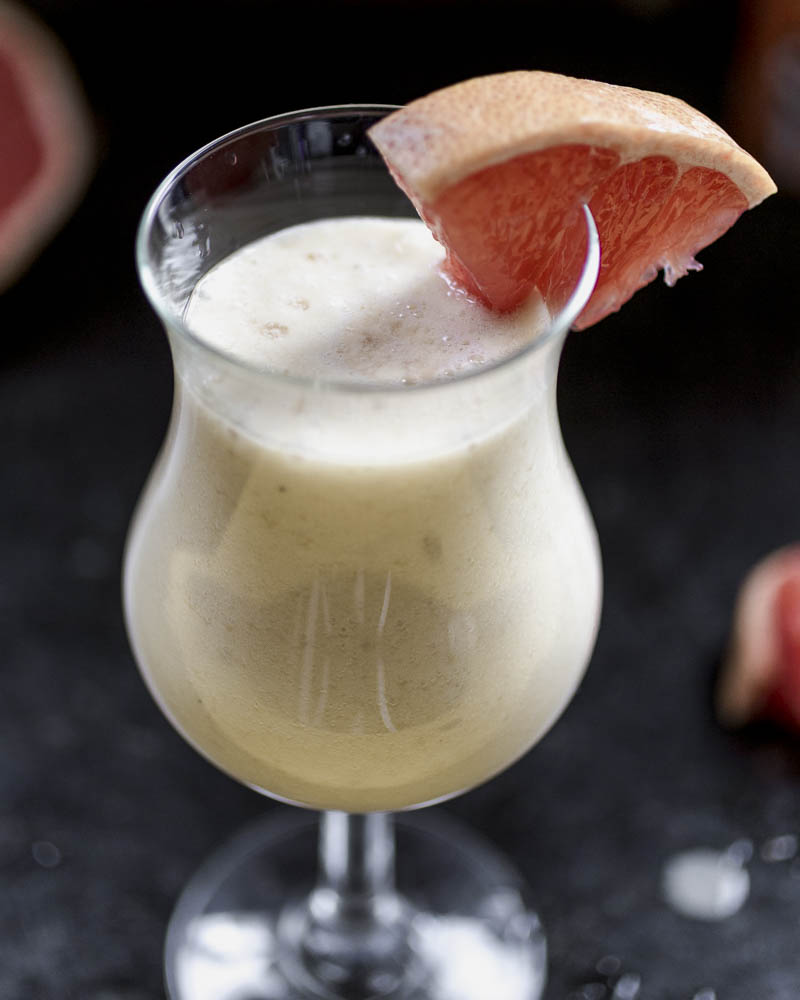 Mango Colada with banana and grapefruit