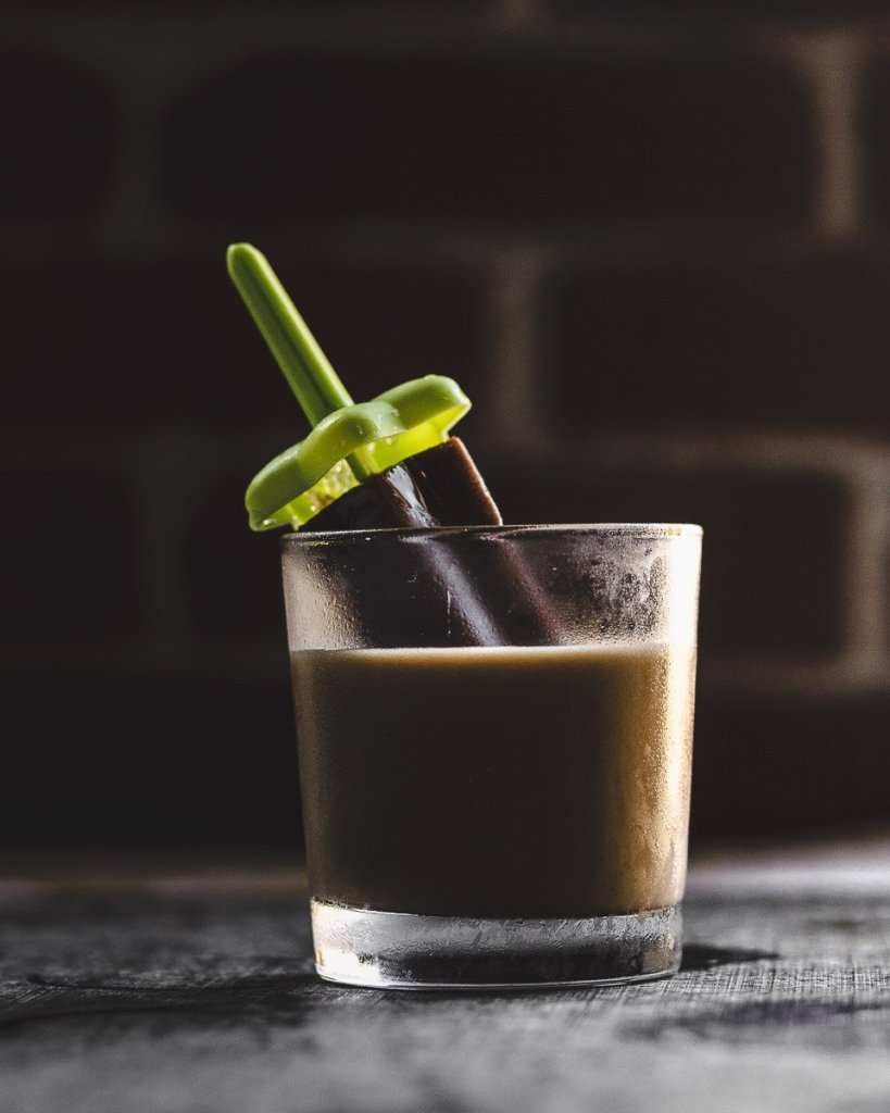 Frozen Chai Brandy Alexander: with a quick DIY crème de cacao